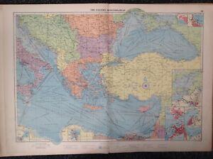 The Eastern Mediterranean, 1952, Mercantile Marine Atlas, Philip