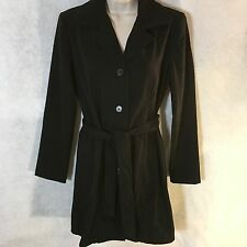 NEW Susan Graver Womens Black Whipstitched Moleskin Duster Jacket Coat XS A58360