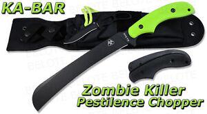 Ka-Bar KaBar ZK Zombie Killer Pestilence Chopper +Sheath 5702