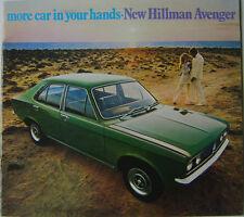Hillman Avenger De Luxe Super GL 1250 1500 1970 UK Sales Brochure Ref No 2582H
