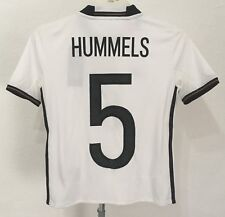 GERMANY 2016/17 S/S HOME SHIRT HUMMELS 5 BY ADIDAS SIZE BOYS 9-10 YEARS NEW
