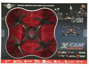 X-Cam Quadcopter Drone With Camera HD Remove Control with 2 GB SD Card