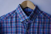 Vineyard Vines (S) Flannel Slim Fit Crosby Shirt Pink Blue Plaid