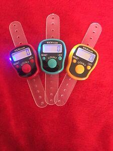 10 STÜCK Zikirmatik Licht LED Schrittzähler Mengenzähler Besucher-Inventurzähler