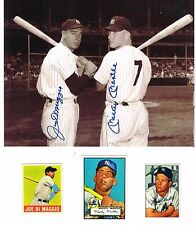 BEAUTIFUL 8X10 PHOTOGRAPH MANTLE/DIMAGGIO WITH REPRINTS AMAZING DISPLAY PIECE