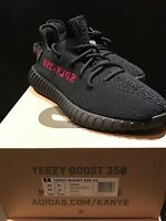 Adidas Yeezy Boost 350 v2 Core Black/Core/Red 9.5 UK 10 US CP9652 Limited Zebra