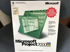MICROSOFT PROJECT 2000 INCLUDES PROJECT CENTRAL CLIENT AND SERVER SOFTWARE NEW