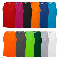 Mens AWDis Cool Vest Shirt Top Wickable Breathable Sports Running Training JC007