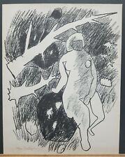 """Gregorio Prestopino (Am. 1907-1984) Original S/N Lithograph """"Nude"""" 16.5""""×13"""""""