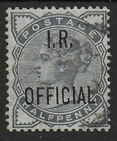 SG O5.  1/2d.Slate-Blue I.R.OFFICIAL. VFU. Good Colour & Perfs.  Ref:07137