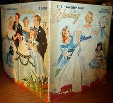 Original Heavenly Blue Wedding Paper Doll Dolls Book 1955 Merrill Complete/Uncut