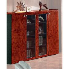 Gloss Walnut Executive 6836T Executive Office Display Cabinet 2m 1980mm wide