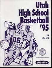 High School Basketball Program 1995 Utah State Championship H.S.