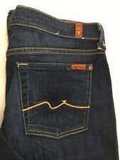 7 Seven For All Mankind Lexie Kaylie Jeans Size 32x32 Flare Leg Distressed EUC