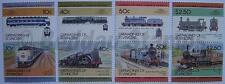 1985 GRENADINES Set #4 Train Locomotive Railway Stamps (Leaders of the World)