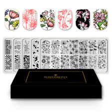 Special Supply BORN PRETTY 5PCS Nail Stamping Plates Kit Flower Strip Mandala