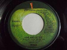 Paul McCartney Wings Live And Let Die / I Lie Around 45 1973 Apple Vinyl Record