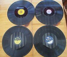 "4 VINTAGE PERSONAL ? DEMO RECORDS 12"" GRAMOPHONE RECORDS / DISCS"