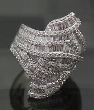 18k White Gold Diamond Ring Cocktail Dinner Womens 6.5 - VS2 6.52ct