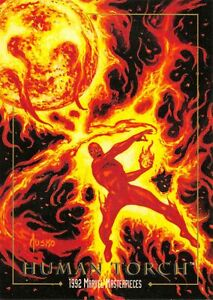 HUMAN TORCH / 1992 Marvel Masterpieces BASE Trading Card #31 Art by JOE JUSKO