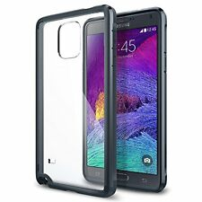 New Spigen Ultra Hybrid Bumper Case For Galaxy Note 4 Metal Slate (SGP11114)