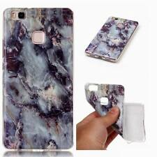 Granite Marble Pattern Slim Soft TPU Case Cover For Huawei P8 P9 P10 Lite 2017