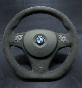 BMW Custom Steering Wheel M3 E91 E92 E93 E82 E90 E87 100% Alcantara Flat Bottom