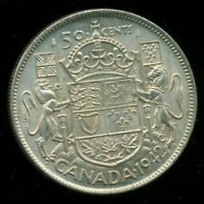 1942 King George VI, Silver Fifty Cent Piece,    I20