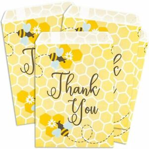 """100pcs Bumblebee Party Favor Goodie Bag for Honey Bee Baby Shower Treat Gifts 7"""""""