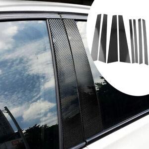 8-Stk Carbon-Fenster B-Säulenabdeckung Passend für BMW X5 X5M E70 2007-2013 Assy