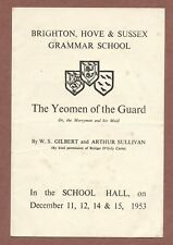 Brighton Hove & Sussex Grammar School 1953, Yeoman of the Guard, Langridge JX185