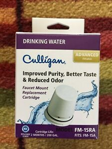 Culligan Advanced Faucet Replacement Cartridge Water Filter FM-15RA NEW
