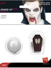 Halloween White Vampire Fangs Tooth Caps With Adhesive in Coffin