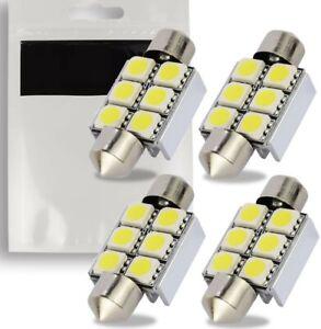 4x Ampoule C5W LED 36mm Navette 6500K Canbus Plafonnier Plaque Lumiere Veilleuse