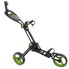 Bullet Black Lime Easy Fold 3 Wheeled Folding Golf Trolley Roller Cart XBU410004