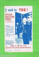 #T38   1963  AUSTRALIAN OFFICER QUALIFYING COURSE   RECRUITMENT  POSTER