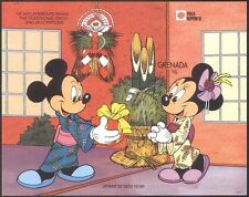 Grenade 1991 disney/Mickey/Minnie/CARICATURES/ANIMATION/stampex imperf M/S (d00272)