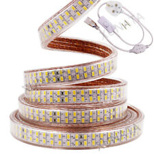 Superbright 5630 5730 LED Strip Lights Waterproof IP65 240leds/m 220V +UK Plug