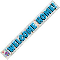 WELCOME HOME FOIL BANNER 3.6M/12'