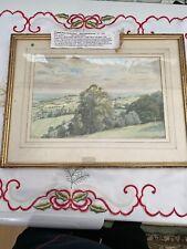 Denis Hugh Somerfield, Prospect From A Dorset Hilltop Watercolour, Vintage