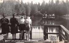 Manistique Michigan Raft on Kitch-Iti-Ki-Pi Spring Real Photo Postcard J70824