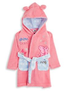 Peppa Pig Super Soft Hooded Dressing Gown with 3D Ears for Girls