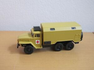 Herpa 1:87 Ural Truck Rotes Kreuz Krankenwagen Militär Bundeswehr Military