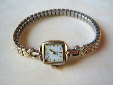 Vintage Hamilton 10k RGP Rolled Gold Plate Bezel Ladies Woman's Watch