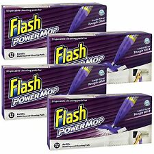 Flash Power Mop 4 x 12 = 48 Refill Cleaning Pads Replacement Absorbent Cloths