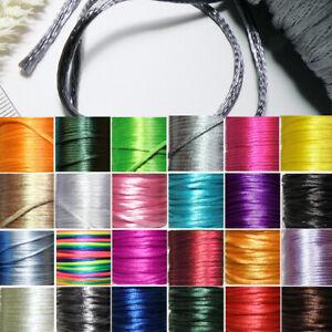 Kunst Seidenband *1lfd Meter* FARBWAHL * 2mm * RUND Schmuck Halskette Satinband