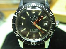 RARE & VINTAGE BULER SWISS DIVER WATCH W/DATE AUTO, 30 ATM JUST BEAUTIFUL LOOK!!