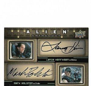 Alien Anthology 2016 Upper Deck dual autograph card Lance Henriksen Mark Rolston
