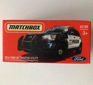2021 MATCHBOX #65 - 2016 Ford Interceptor Utility (Black - Mix 5) 1x Power Grab