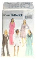 Butterick 5688 Misses Top Gown Pants Sewing Pattern Size Lrg-XXL OOP UNCUT